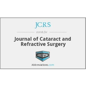 Journal of Cataract and refractive surgery 1