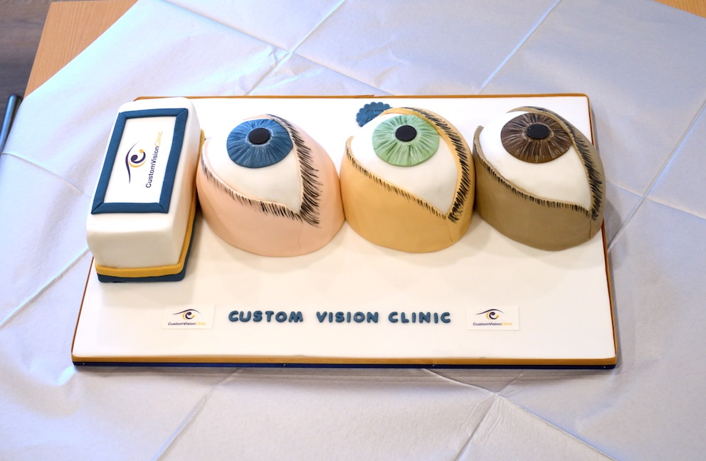 1000 Eye Surgeries Celebration Cake